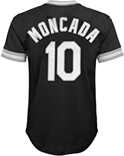 Yoan Moncada Chicago White Sox Black Youth Cooperstown V-Neck Mesh Jersey