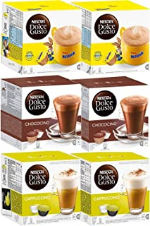 Capsules Nescafé Dolce Gusto • Pack Familial Multi-Boissons en qualité professionnelle (Chocolat • Pack Nesquik + Chococin...