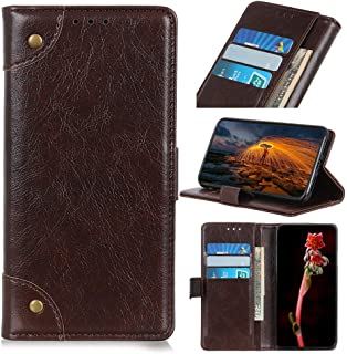 zl one Compatible with/Replacement for Phone Case LG K20 2019 PU Leather Card Slots Wallet Case Flip Cover (Coffee)