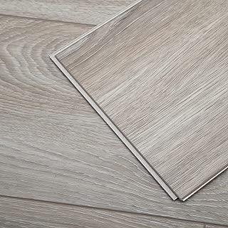 Diflart Cantha Oak 23.6 sq.ft Waterproof Vinyl Plank Flooring Click Together 48x7 inch Lvt Flooring Foam Back Rigid Core Wood Grain Finish Pack of 10