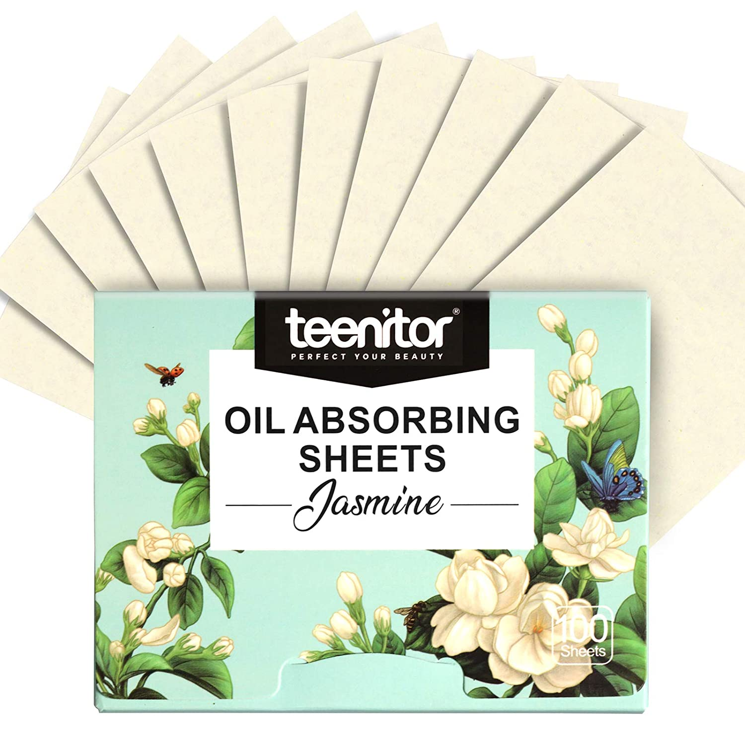 Teenitor 1000 Counts Oil Absorbing Sheets, Oil Blotting Paper, Oil Absorbing Tissues, Face Facial Natural Oil Control Film Blotting for Oily Skin Care Men Women-Jasmine : Beauty & Personal Care