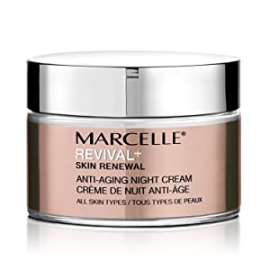 Marcelle Revival+ Skin Renewal Anti-Aging Night Cream, Hypoallergenic and Fragrance-Free, 1.7 fl oz