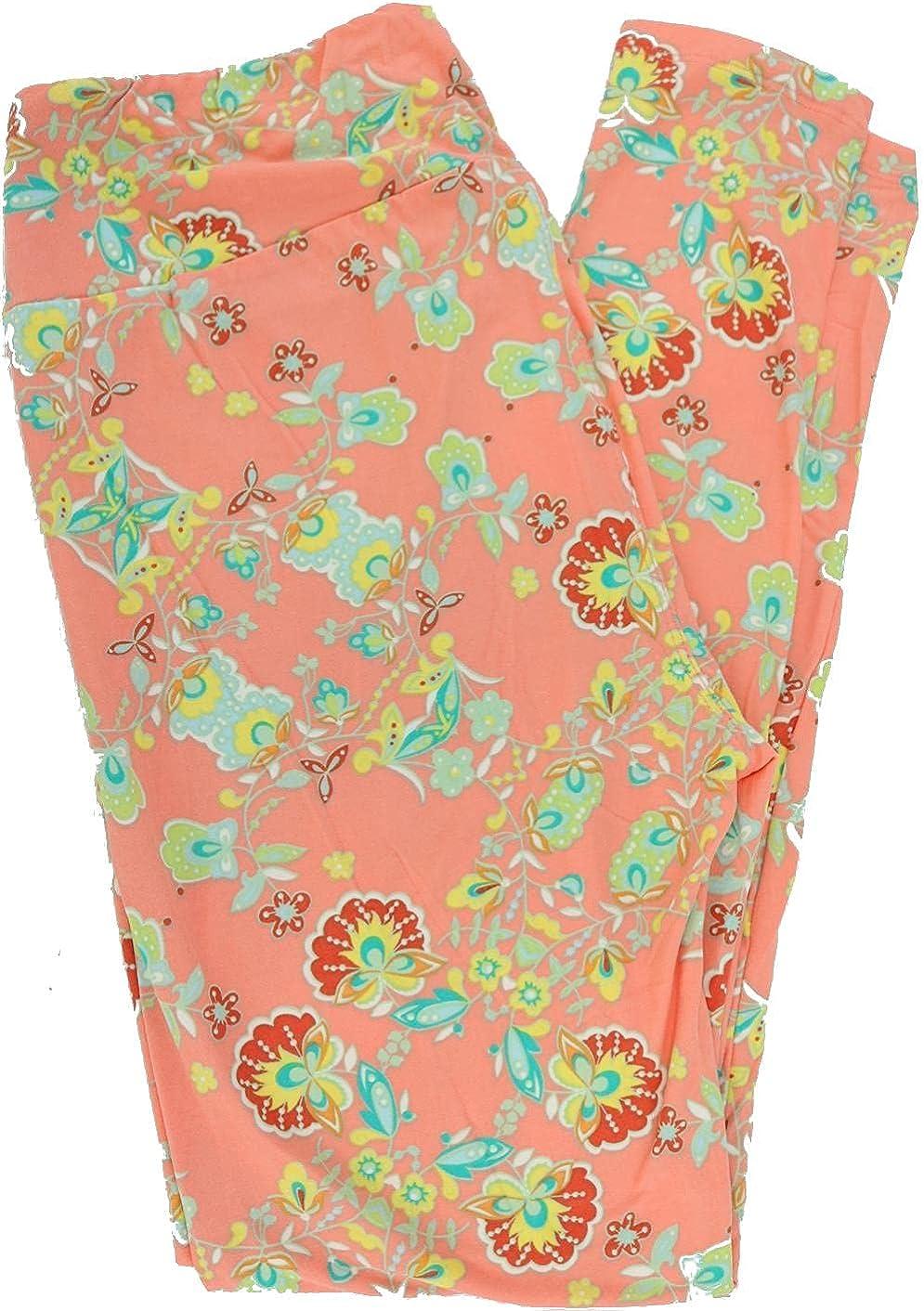 Lularoe Floral Leggings (Tall & Curvy) Fits Pants Size 12-18