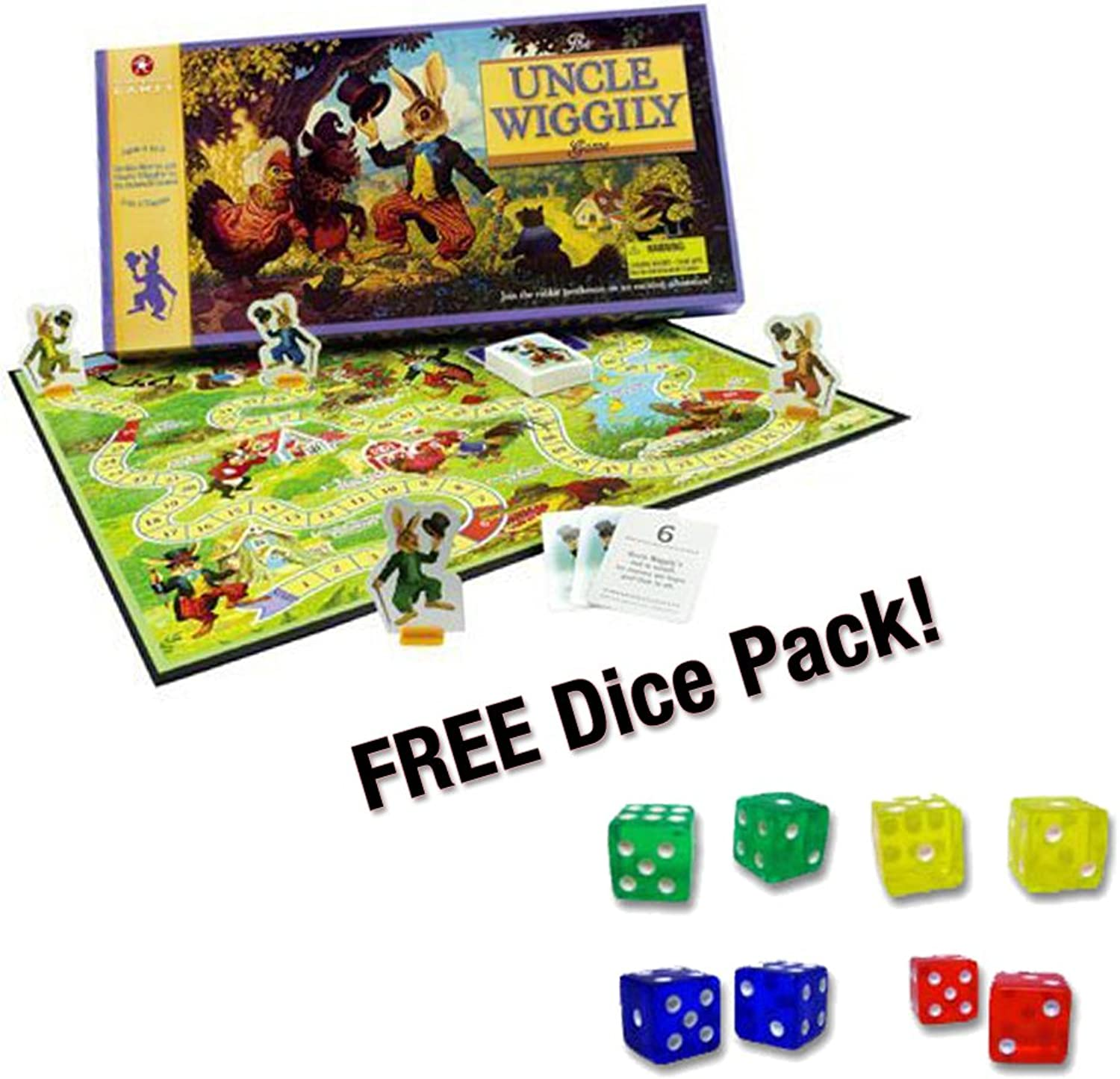 Uncle Wiggily Board Game w  FREE Set of Dice