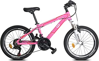 """CyclingDeal Kids Children Mountain Bike Bicycle MTB with Detachable Training Wheels - 18 Speed 20"""" Wheels 12"""" Frame for 5-..."""