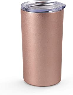 Maars Drinkware 12 oz Double Wall for Coffee, Tea, Juice Travel Friendly, Compact Size, 1 Pack, Rose Gold