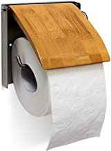 Relaxdays 10019179 toiletpapierhouder h x b x d: 13,5 x 14,5 x 13,5 cm wc-rolhouder voor 1 wc-roll voor wandmontage van ba...