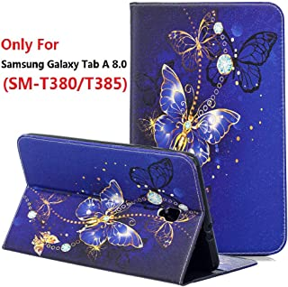 Galaxy Tab A 8.0 2017 T380 T385 Case, YMH Ultra Slim Lightweight Leather Girl Boy Kids Magnetic Folio Cute Multi Angle Stand Pocket Wallet Case Cover for Samsung Galaxy Tab A 8.0 2017 (16)