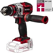 Einhell 4513850 - Taladro atornillador, sin batería, 2velocidades, 60Nm, luz LED, maletín, 500 rpm, 18V, color rojo y negro