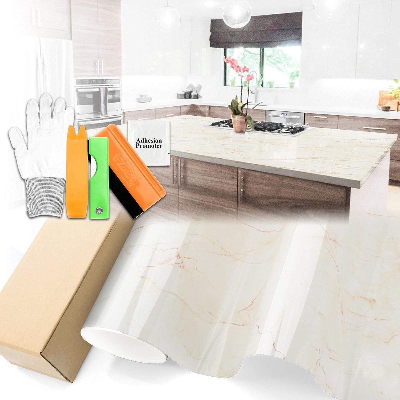 Gloss Ivory Marble Granite Vinyl Max 85% OFF Deco Wallpaper Paper Countertop Max 75% OFF
