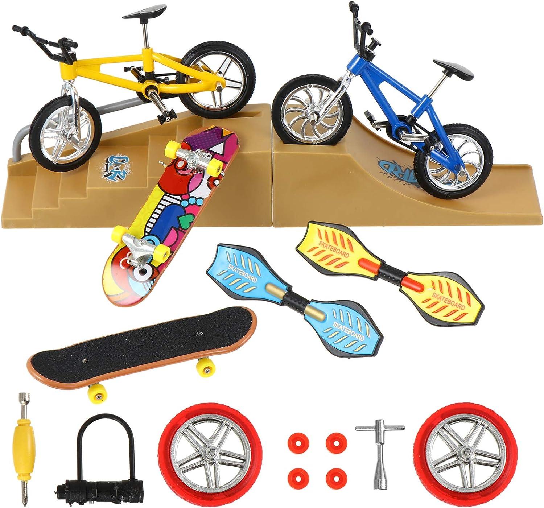BESPORTBLE 18pcs Mini Finger Bikes Max 85% OFF Max 47% OFF Sports Skateboards Set