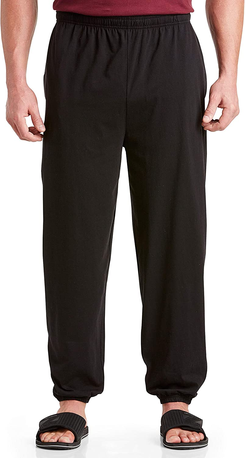 Harbor Bay by DXL Big and Tall Cinched-Hem Jersey Pants