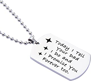ENSIANTH Gift for Stepson Step Daughter Today I Tell Your Dad I do and I Promise You Forever Too Necklace,Wedding Gift Blended