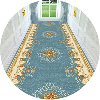 PPCP Hallway Runner Rug Long Runner Rugs Corridor Carpet Nordic Minimalist Pattern Cuttable Carpet Ideal for Corridors and Stairs Multiple Sizes (Color : A, Size : 1.4X5M)