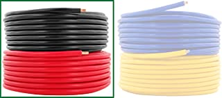 16 AWG (American Wire Gauge) Pure Copper Primary Cable for Car Audio Speaker Amplifier Remote 12volt Automotive Trailer Wiring 25 feet Red, 25 ft Black Combo (Also in Yellow & Blue)