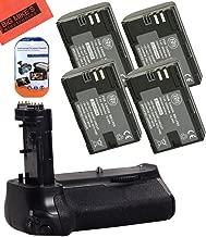 Battery Grip Kit for Canon EOS 7D Mark II Digital SLR Camera Includes Qty 4 BM Premium LP-E6, LP-E6N Batteries + Replacement BG-E16 Battery Grip