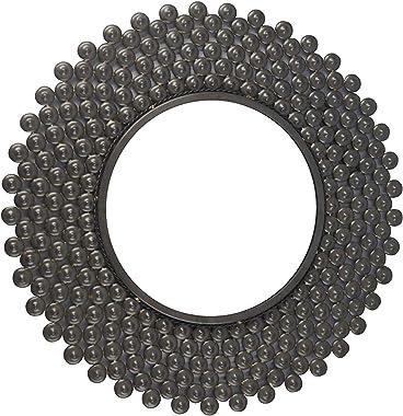 Your Gennie Metal Wall Mirror Black 30 Inches