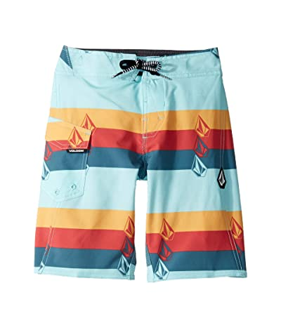 Volcom Kids Lido Liney Mod Boardshorts (Big Kids) (Seaglass) Boy
