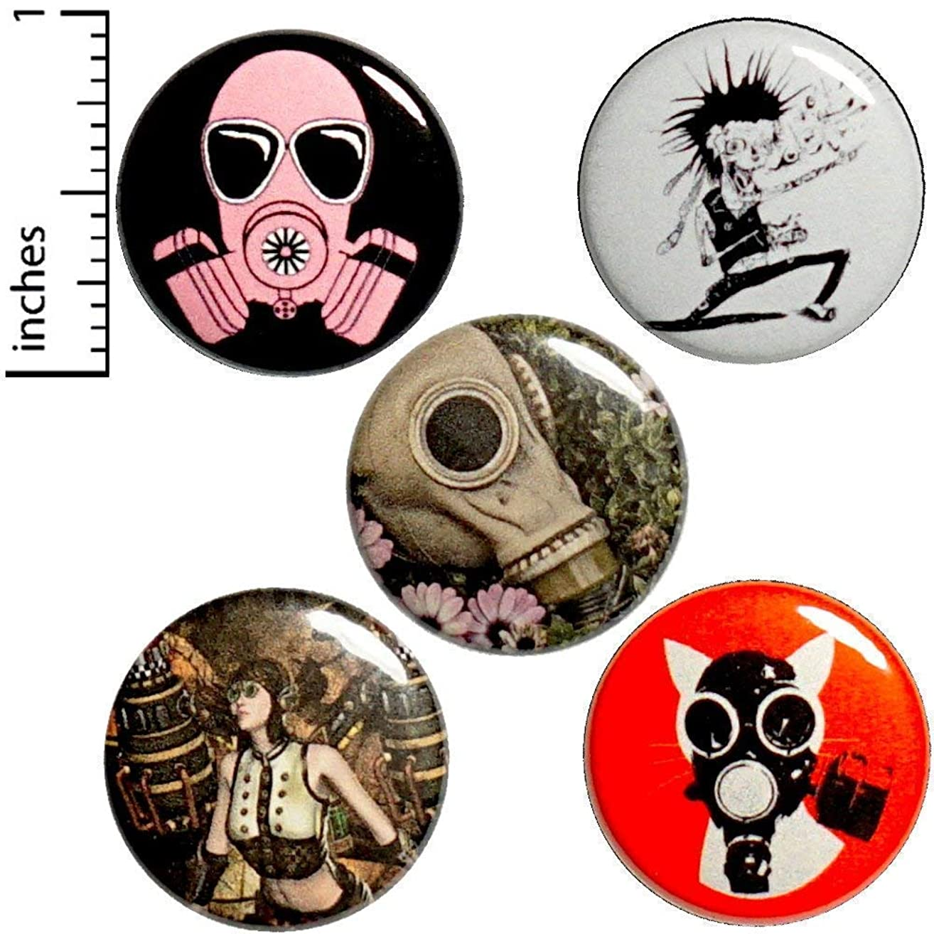 Punk Rock 5 Pack Buttons or Magnets 1 Inch P6-4