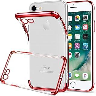 HOOMIL iPhone SE 2020 Case, iPhone 8 Case, iPhone 7 Case, Clear Silicone Anti-Scratch Shock Phone Case Cover (Rose Gold Bu...