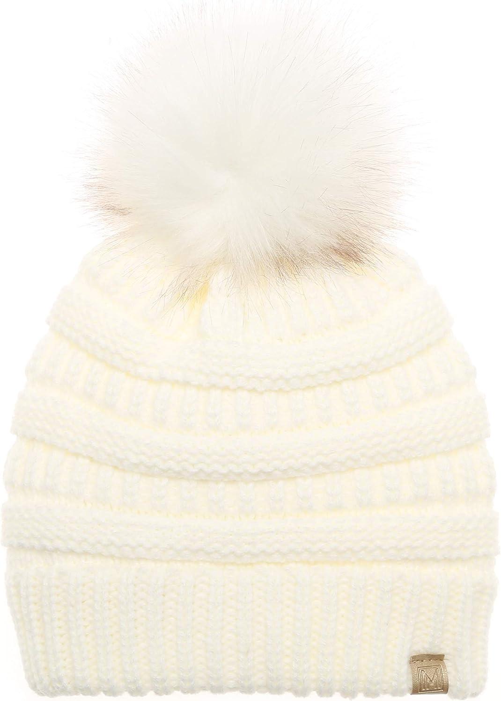 Max 77% OFF MIRMARU Kids Boys Girls Winter Soft Warm wi Hat Oakland Mall Beanie Knitted