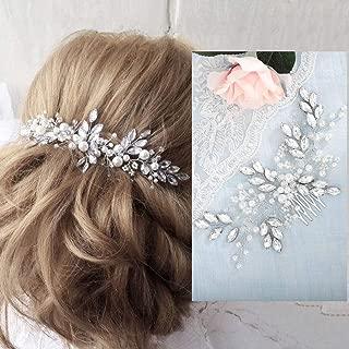 Barogirl Wedding Crystal Hair Comb Clip Bride Hair Piece Bridal Hair Accessories for Women
