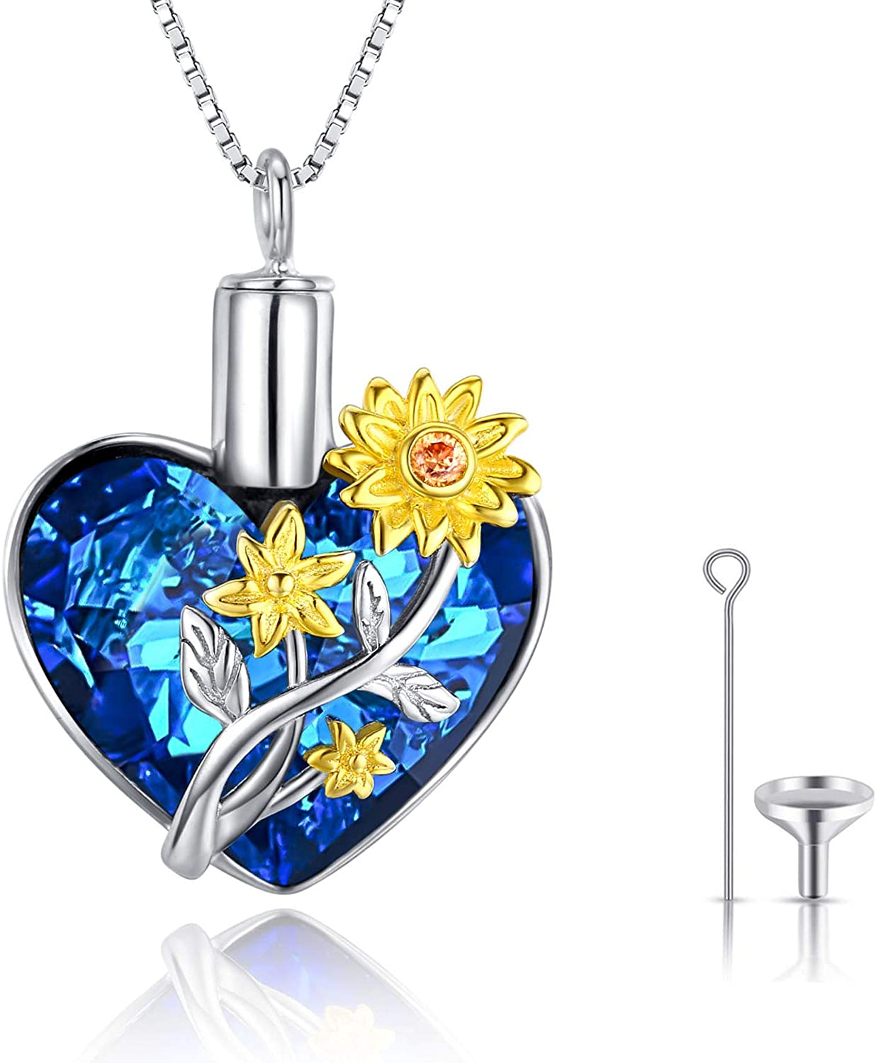 JUSTKIDSTOY Cremation Jewelry for lowest price Ashes Sunf Industry No. 1 925 Sterling Silver