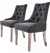 La Bella 2X French Provincial Oak Leg Chair Amour - Black