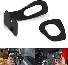 SUNPIE CB Mic Mount/Passenger Grab Bar Microphone Holder/Hand Held CB Microphone Mounting Bracket for Jeep Wrangler JK 2011-2018