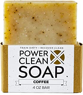 Organic Coffee Bar Exfoliating Soap for Athletes with Essential Oils of Lemon, Lavendin, Orange, and Patchouli plus Organic Ground Coffee. For All Skin Types. Non GMO, SLS Free 4 oz Bar