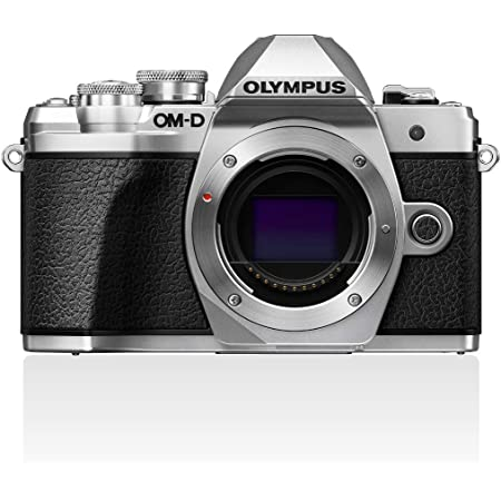 Olympus OM-D E-M10 Mark III Micro Four Thirds System Camera, 16 Megapixels, Image Stabilizer, Electronic Viewfinder, 4K Video, Silver