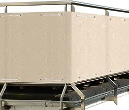 Sol Royal SolVision balkonscherm HB2 HDPE ondoorzichtig polyethyleen privacyscherm 300x90 cm Crème-Beige - windbescherming...