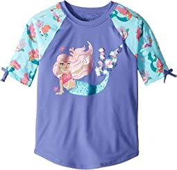 Mermaid Tales Short Sleeve Rashguard (Toddler/Little Kids/Big Kids)