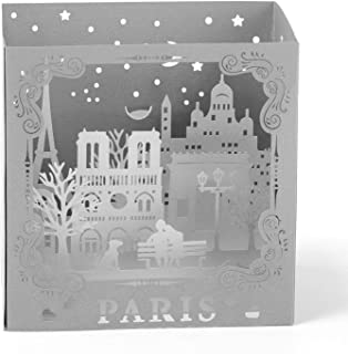Paper Spiritz Paris Pop up Birthday Boxes, Graduation Cards, Wedding Anniversary, Laser Cut 3D popup card Love all Occasion, Handmade Thank You Greeting Card for Kids Baby