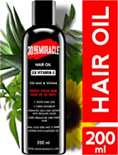 30 DAYS MIRACLE 2X Vitamin-E Hair Oil 200ml. Anti Hair Fall | Anti Dandruff | Promotes New Hair Growth & Cures Premature Greying. For Man & Woman.