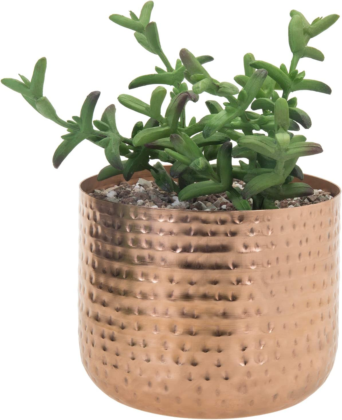 MyGift 6-inch Some reservation Hammered Style Metal Planter Succulent Wholesale Copper-Tone