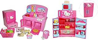 Hello Kitty Kitchen and Refrigerator Sets Sold Together – Everything Needed for Cooking Play