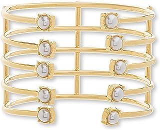 Steve Madden Women's Pearl Multi Layer Bracelet, 6.5 Inch - SMB463544GDP