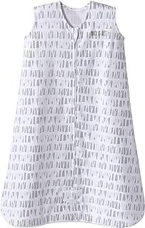 HALO Sleepsack Cotton Wearable Blanket, Squares and Triangles, Grey, Medium