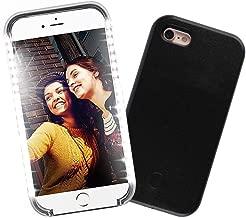 Selfie Phone Case Compatible iPhone 6 Plus/6S Plus,LNtech Rechargeable LED Light up Flash Lighting Selfie Case Illuminated Cover (Black, iPhone6 Plus/6S Plus)