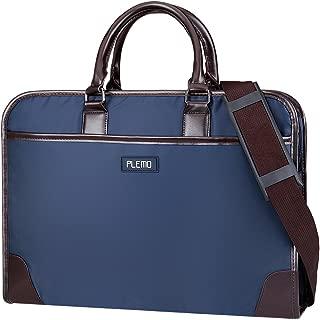 Plemo Nylon Water-Repellent Business Bag Shoulder Bag with Multiple Storage Compartments Fits 13