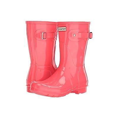 Hunter Original Short Gloss Rain Boots (Hyper Pink) Women