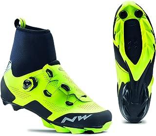 NORTHWAVE RAPTOR GTX que compite con los zapatos del invierno de la bici flúo / negro