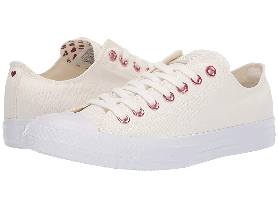 Converse Chuck Taylor(r) All Star(r) Hearts Ox (Egret/Thubarb/White) Athletic Shoes