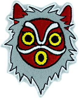 Princess Mononoke San Wolf Mask Patch Iron on Applique Alternative Clothing Anime