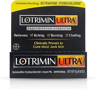 Lotrimin Ultra Antifungal Jock Itch Cream, Prescription Strength Butenafine Hydrochloride 1% Treatment, Clinically Proven ...