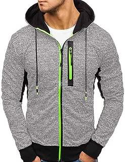 Men's Sweatshirt, Beautyfine Zipper Pullover Autumn Winter Sportswear Casual Print Long Sleeve Tops Blouse