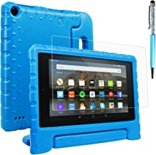 Tablet All-New Fine 7 2015 Case with Screen Protector & Stylus, AFUNTA Convertible Handle EVA Protective Case, PET Plastic Cover & Touch Pen Compatible 7 inch Tablet (5th Generation 2015 Release)-Blue