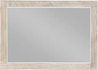 Laurel Mirror in Modern Gray with Beveled Glass And Wood Frame, by Artum Hill