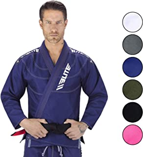 Elite Sports IBJJF Ultra Light Brazilian Jiu Jitsu BJJ Gi W/Preshrunk Fabric & Free Belt